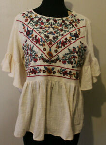 UMGEE Embroidered Top Size M