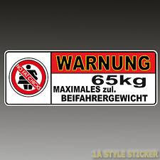 NFC Warnung 65kg NO FAT CHICKS Aufkleber dapper illest lifestyle NFC decal d12
