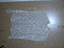 Vintage 70s Cream Lace Victorian Top Blouse Puffed Sleeve The Shirt Off My Back