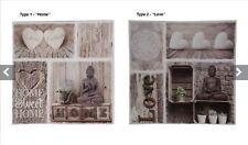 Buddha & Mandela Canvas Print Wall Art Picture Hanging Plaque - 2 designs