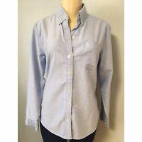 Eddie Bauer Women Shirt Denim Long Sleeve Light Blue Size Small Button Top