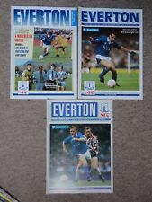 EVERTON vs MAN Utd manchester utd 1990 1991 1989 football programme job lot
