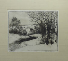 "Charles Dahlgreen ""In the Hill"" Original Landscape Etching Signed Illinois Artis"