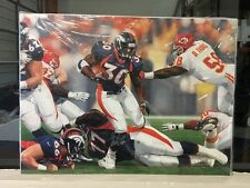 DENVER BRONCOS MVP TERRELL DAVIS AUTOGRAPH CANVAS GICLEE NUMBERED BY DANNY DAY
