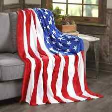 Ultra Soft & Cozy Oversized American Flag Usa Plush Fleece Throw Blanket Cover