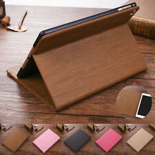 Smart Wooden Pattern Leather Case Cover for iPad 4 5th/6th Gen/Air/Mini/Pro11