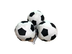 Good Boy Dog Puppy Toy - Soft Plush Football With Squeaker approx 13cm diameter