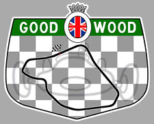CIRCUIT DE GOODWOOD RACING TRACK 10cm AUTOCOLLANT STICKER GA082