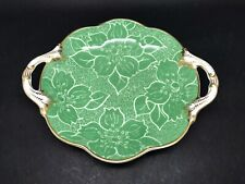 Vibrant Green 2 Handled Vintage Dish / Plate By Crescent China