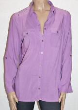 Millers Brand Purple Long Sleeve Lace Yoke Shirt Size 14 BNWT #sH75