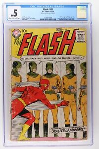 Flash #105 - DC 1959 - CGC 0.5 - 1st SA Flash! Origin & 1st App Mirror Master!