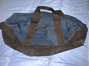 "LL Bean Duffle Shoulder Bag Blue Adventure Luggage Medium 24"" -"