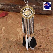 Women Lady Feather tassel DREAM CATCHER Retro Bohemian Beach long Necklace