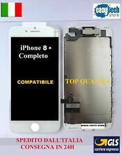 DISPLAY LCD Touch Screen TIANMA iPhone 8 Plus COMPLETO Fotocamera Cassa BIANCO