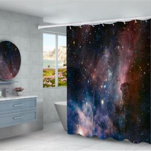 Beautiful Space Art Shower Curtain Bathroom Waterproof Mildew Splash Resistant B