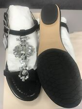 Jimmy Choo Night Jeweled Suede Sandal Size 8