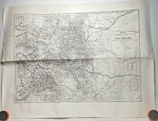 Nell's Topographical And Township Map State Of Colorado 1880's