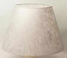 "Lampenschirm ""Laura"" Hellgrau-Silber oval -D40cm/E27-Handarbeit von HejoDesign"