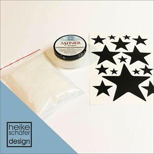 Satiniercreme Set Sterne in Pearl Weiss, 3-teilig -Neu-  Heike Schäfer Design