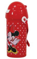 Disney Minnie Mouse Drinks Flask Dispenser with Straw and Lanyard