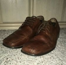 STACY ADAMS Leather Oxford Dress Shoes~Brown~Size 11 W