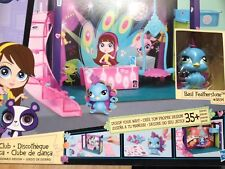 NEW! LITTLEST PET SHOP SCENE -  Dance Club - BASIL FEATHERSTONE PEACOCK  #3834