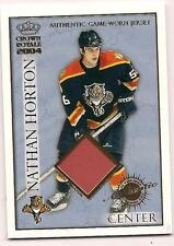 2003/4 Crown Royale Rookie Jersey Nathan Horton Florida Panthers #14/220