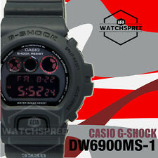 Casio G-Shock Matte Black Red Eyed Series Watch DW6900MS-1D