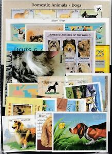 NJ 20S/S ANIMALS - DOGS  - MNH - PETS - DOMESTIC ANIMALS - WHOLESALE