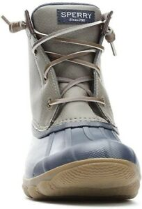Sperry Women's Syren Gulf Rubber Closed Toe Ankle Rainboots, Grey, 8 (STS80525)