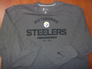 Nike NFL Pittsburgh Steelers Football Authentic On Field Sideline Ls T-Shirt 3XL