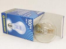 10 x 100 W clara bombilla incandescente E27 esférica Lámpara 100W rosca - nueva