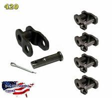 4-Pieces #420 Offset Link1/2 Link, Half Link, Crank Link, Motorized Bicycle