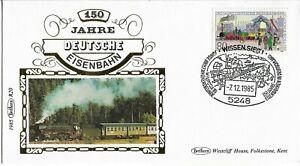 Germany 1985 Benham Silk German Railway cover