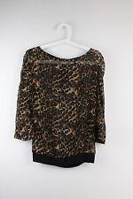 Next Women's Animal Print 3/4 Sleeve Sleeve Hip Length Tops & Shirts