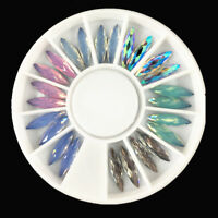 3D Nail Art Decor Rhinestone for Acrylic Gel Tips Horse Eye Crystal Chameleon AB