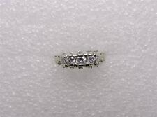 - Size 5.5 - Lb1192 14K White Gold Diamond Wedding Band