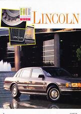 1988 Lincoln Continental - 4season test  -  Classic Car Original Article J47