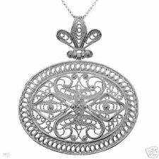 Beautifully Designed Solid Sterling Silver Necklace