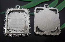 10 pcs Tibetan Silver Square Frame Charms Pendants 25x19mm   (Lead-free)