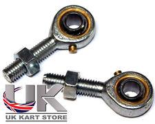 Track Rod End Set Male M8 LH/RH + Nut Bronze Liner UK KART STORE