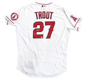 Mike Trout Los Angeles Angels Signed Authentic On Field Nike White Jersey MLB