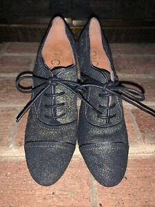 Nicole Genuine Leather Wedges Booties Shoe Granny Boots Metallic Sz 9 ❤️tb9j8