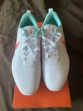 Nike Roshe G Tour Golf Shoes Cleats South Beach Hot Punch AR5580-103 Sz 11.5