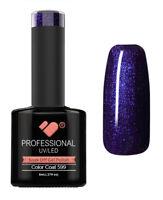 599 VB Line Midnight Dark Blue Metallic - UV/LED nail gel polish - super quality