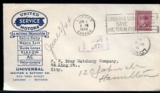 Auto parts advertising POSTAGE DUE forwarded crop rate cover scarce Canada cover