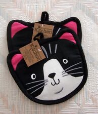 Cat Pocket Mitt Set Kay Dee Crazy Cat Pattern