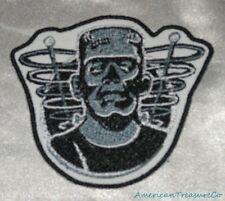 Embroidered Retro Halloween Frankenstein B&W Movie Monster Patch Iron On Sew USA