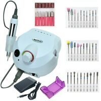 New 35000/20000RPM Electric Nail Drill Machine Set Mill Cutter Pedicure Manicure