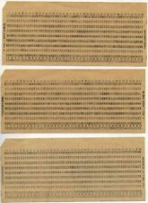 50 x OLD USSR Computer Mainframe Punch Cards. Like for IBM UNIVAC computers!